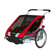 Chariot Carriers Cougar 2 Stroller, Red-Silver-Grey, medium