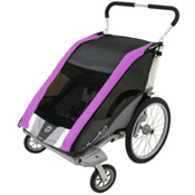 Chariot Carriers Cougar 2 Stroller, Purple-Silver-Grey, medium