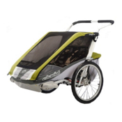 Chariot Carriers Cougar 2 Stroller, Avocado-Silver-Grey, medium