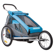 Croozer Kid for 1 Stroller, Blue-Grey-Black, medium