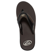 Reef Fanning Mens Flip Flops, Dark Brown, medium