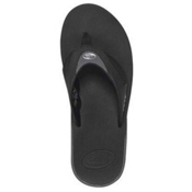 Reef Fanning Mens Flip Flops, Black-Ice, medium