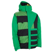 686 Reserved Havoc Mens Insulated Snowboard Jacket, Kelly Colorblock, medium