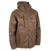 686 Mannual Legacy Mens Insulated Snowboard Jacket, Dark Tobacco Herringbone Denim, medium