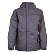 686 Mannual Legacy Mens Insulated Snowboard Jacket, Gunmetal Check, medium