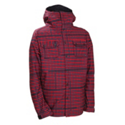 686 Plexus Clash Mens Snowboard Mens Soft Shell Jacket, Red Plaid Print, medium