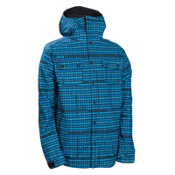 686 Plexus Clash Mens Snowboard Mens Soft Shell Jacket, Royal Plaid Print, medium