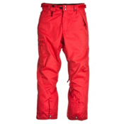 686 Reserved Resist Insulated Mens Snowboard Pants, Red Dual Pinstripe, medium