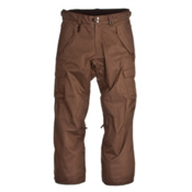 686 Mannual Infinity Insulated Mens Snowboard Pants, Dark Tobacco Herringbone Denim, medium