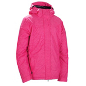 686 Mannual Angel Womens Insulated Snowboard Jacket, Raspberry Cross Dobby, medium