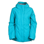 686 Mannual Angel Womens Insulated Snowboard Jacket, Turquoise Cross Dobby, medium