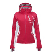 Salomon Odyssey II GTX Womens Insulated Ski Jacket, Cerise-White, medium