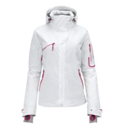 Salomon Speed Womens Insulated Ski Jacket, White, medium