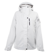Salomon Exposure II Womens Insulated Ski Jacket, White, medium