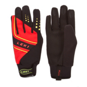 Leki Thermoshield Gloves, Black-Red-Yellow, medium