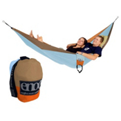 ENO Double Nest Hammock, Blue-Orange-Khaki, medium