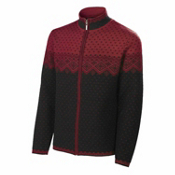 Neve Designs Serge Full Zip Card Mens Sweater, Wine, medium
