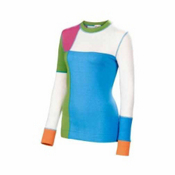 Neve Designs Color Block Crew Neck Womens Sweater, Vivid Green, medium