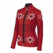 Neve Designs Lisa Full Zip Jacket Womens Sweater, Red, medium