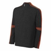 Neve Designs Gordon Zip Neck Mens Sweater, Burnt Orange, medium