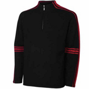 Neve Designs Gordon Zip Neck Mens Sweater, Black, medium
