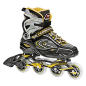 Roller Derby AERIO Q 80 Inline Skates, Gold-Black-White, medium