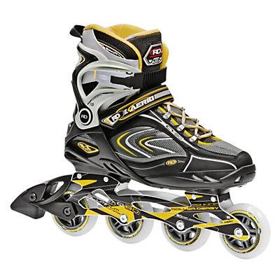 Roller Derby AERIO Q 80 Inline Skates, Gold-Black-White, viewer