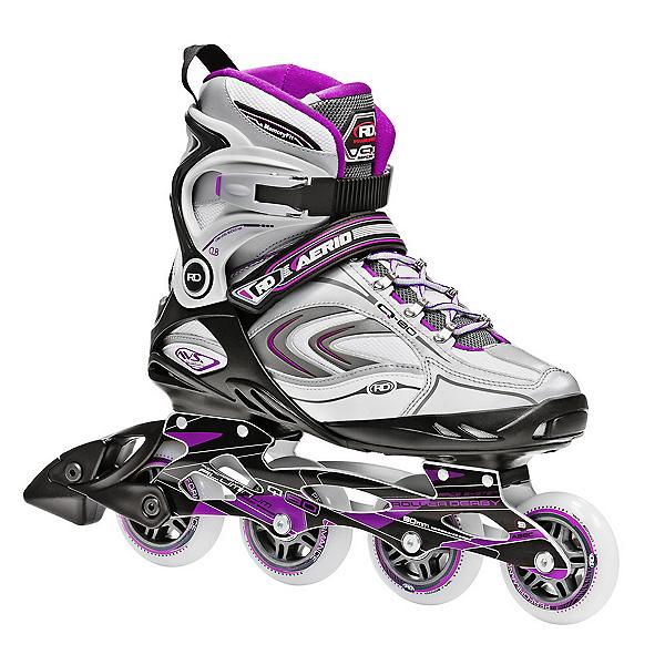 Roller Derby Aerio Q 80 Womens Inline Skates 2017, Purple-Black-White, 600