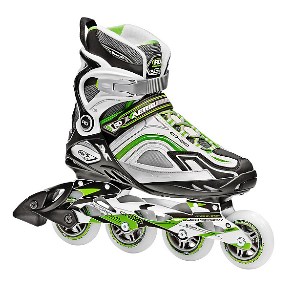 Roller Derby Aerio Q 90 Womens Inline Skates 2017, Green-White-Gray, 600