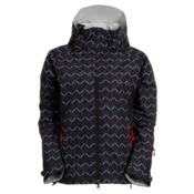 Marker Vega Printed Insulated Womens Shell Ski Jacket, Black, medium