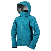 Marker Vega Printed Insulated Womens Shell Ski Jacket, Turquoise, medium