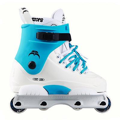Razors Genesys 9 Turquoise Aggressive Skates, , large