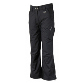 Marker Pop Regular Rise Girls Ski Pants, Black, medium