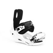 5th Element Stealth 2 Binding Snowboard Bindings 2013, White-Black, medium