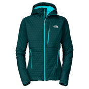 The North Face Polar Hooded Womens Soft Shell Ski Jacket, Kodiak Blue-Turquoise Blue, medium