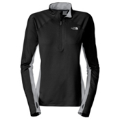 The North Face Impulse 1/4 Zip Womens Mid Layer, TNF Black-Metallic Silver, medium