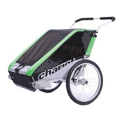 Chariot Carriers Cheetah 2 Stroller, Green-Black-Silver, medium