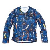 Hot Chillys Skins Print Crewneck Kids Long Underwear Top, Mariachi Navy, medium
