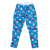 Hot Chillys Peach Skins Print Girls Long Underwear Bottom, Cupcakes Blue, medium