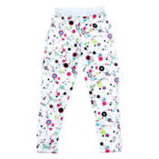 Hot Chillys Peach Skins Print Girls Long Underwear Bottom, Dots & Hearts White, medium