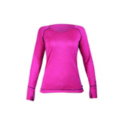 Hot Chillys Geo Pro L/S Womens Long Underwear Top, Fuchsia Heather, medium