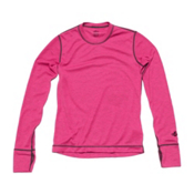 Hot Chillys Geo Pro Crewneck Girls Long Underwear Top, , medium