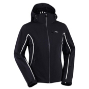 KJUS Flare Womens Insulated Ski Jacket, Black-White, medium