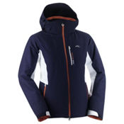 KJUS Formula Womens Insulated Ski Jacket, Peacoat-White-Red Orange, medium