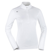 KJUS Boogie FS Half Zip Womens Mid Layer, White, medium