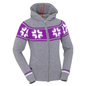 KJUS Snowstar Hoody Womens Sweater, Grey Melange, medium
