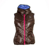 KJUS Backflip Down Womens Vest, Chocolate Brown, medium