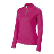 Neve Designs Annabelle Zip Neck Womens Sweater, Purple, medium