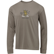 Life Is Good Crusher Long Sleeve Powder Hound Shirt, , medium