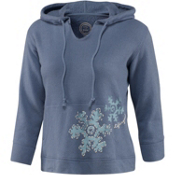 Life Is Good 3/4 Sleeve Sleep Fresh Snowflake Hoodie Womens Hoodie, , medium